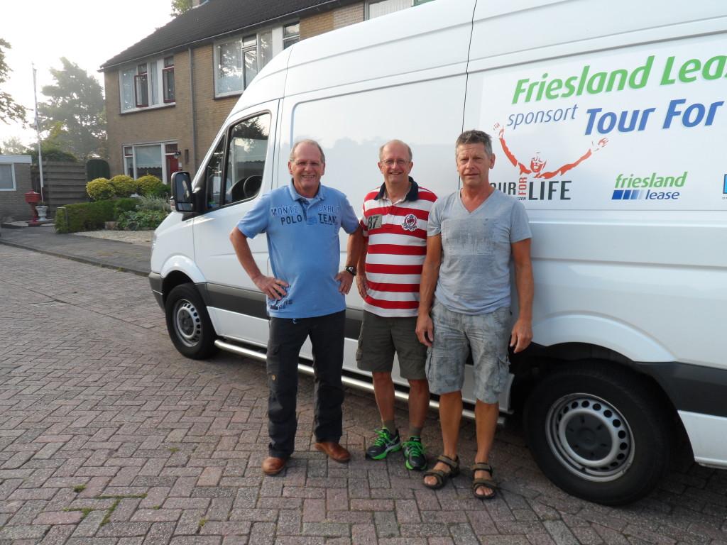 Tour for Life 1 - Keimpe, Sjoerd en Gerben startklaar