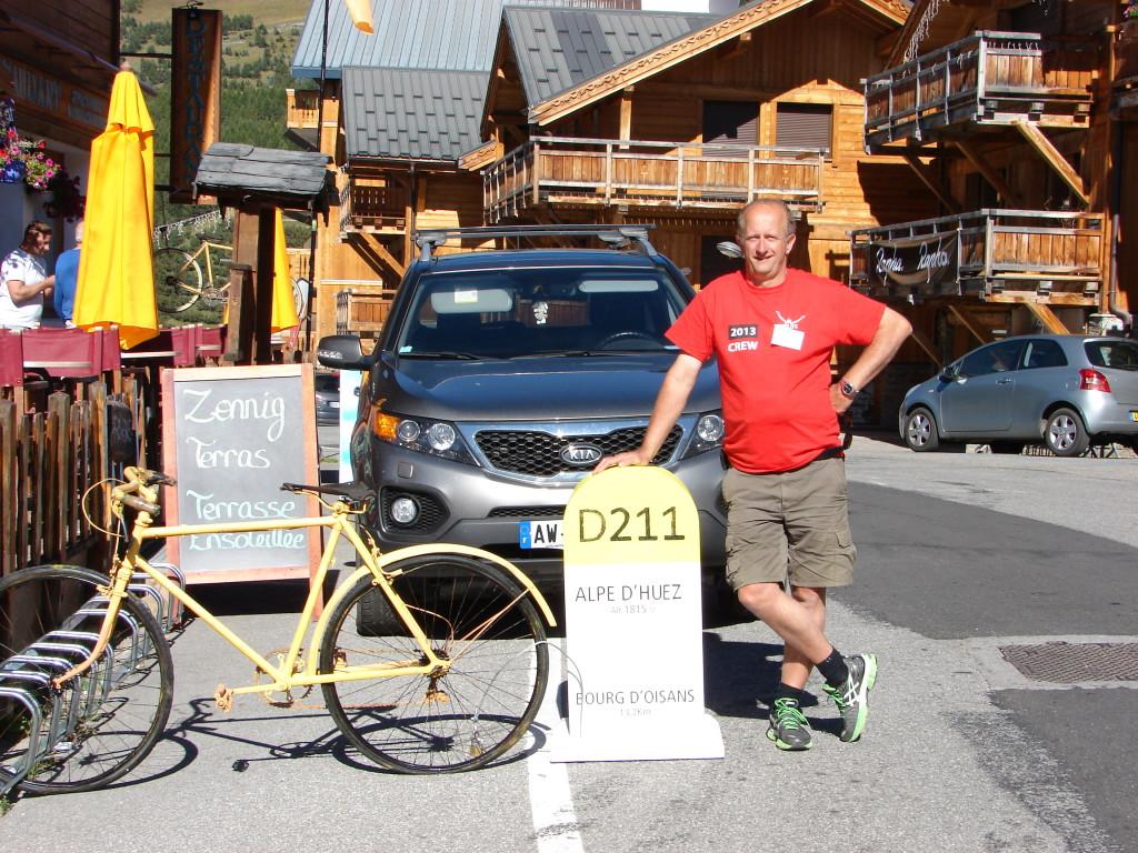 Tour for Life 8 - Sjoerd op Alpe d'Huez